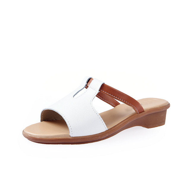 Genuine Leather Casual Cool Slippers