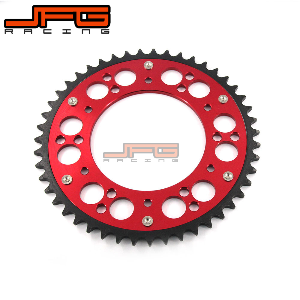 red 48T 520 SPROCKETS FOR CR CRF 125 250 230 450 MOTOCROSS OFF ROAD BIKE for honda crf 250r 450r 2004 2006 crf 250x 450x 2004 2015 red motorcycle dirt bike off road cnc pivot brake clutch lever