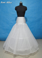 Wholesale 2 Hoop Ivory Lace Edge A line Lycra Wedding Gown Petticoat Crinolines Slips Fit USA SIZE 2 TO 24W