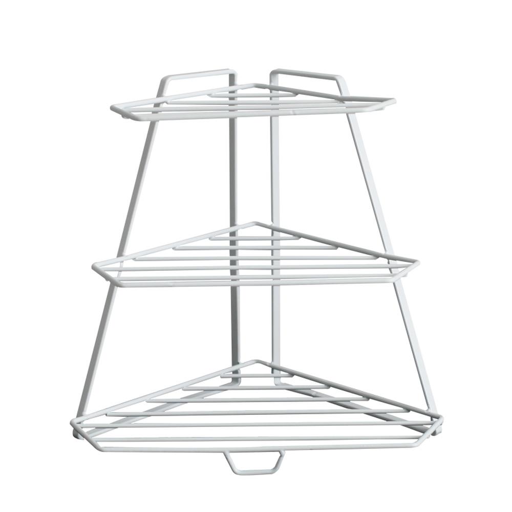 Iron Desktop Three-layer Triangle Seasoning Home Kitchen Bathroom Floor Rack   WY7061130