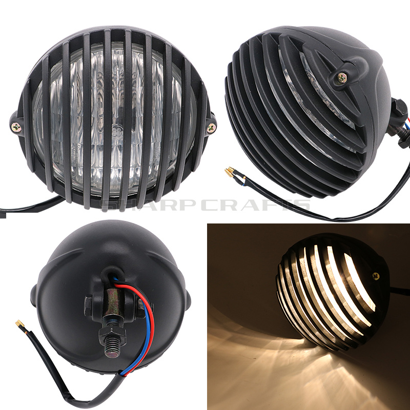 Motorcycle Vintage Grill Headlight Assembly For YAMAHA Dragstar V star XVS400 XVS650 XVS1100 DS400 DS650 DS1100