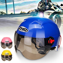 Motorcycle Open Face Motorcycle Motorbike Scooter Helmet Sun Visor Crash On Road Protective Gears Electro Car Helmet(China)