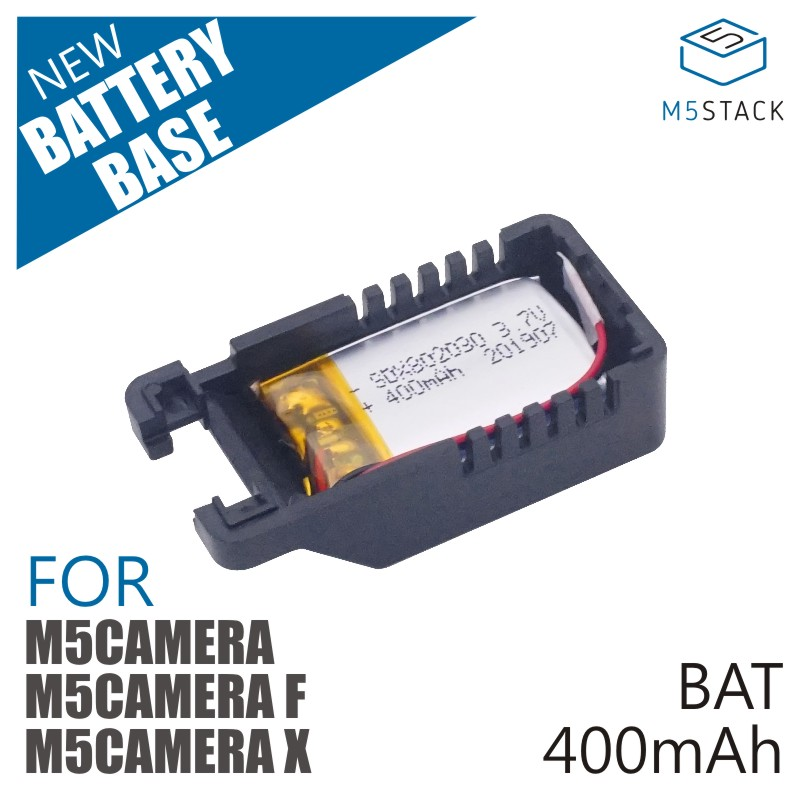 M5Stack Official Battery Base Of M5Cameras, M5Camera, M5Camera_X 400mAh Lipo Battery