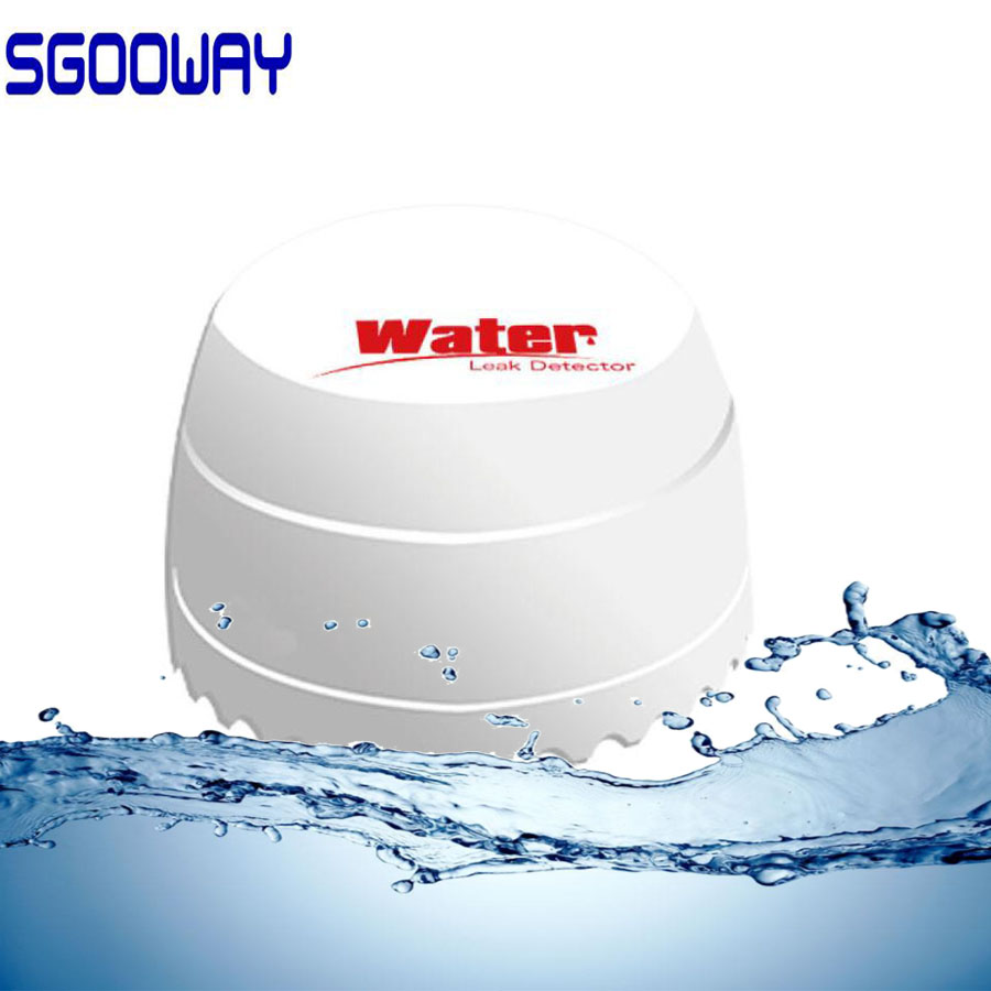 Sgooway Wireless Water Leakage Alarm Intrusion Detector Leak Sensor Work With GSM PSTN SMS Home House Security For Alarm System
