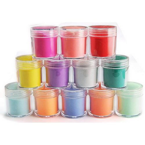 3 Sets de Nueva Práctica Superior Durable 24 Colores Polvo de Acrílico Del Polvo de Uñas de Arte Decoración