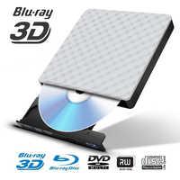 USB 3,0 Супер тонкий внешний 6X BDXL 3D записывающее устройство для Blu-Ray горелки для Apple Macbook iMacMac Мини ПК оптический проигрыватель дисков писатель