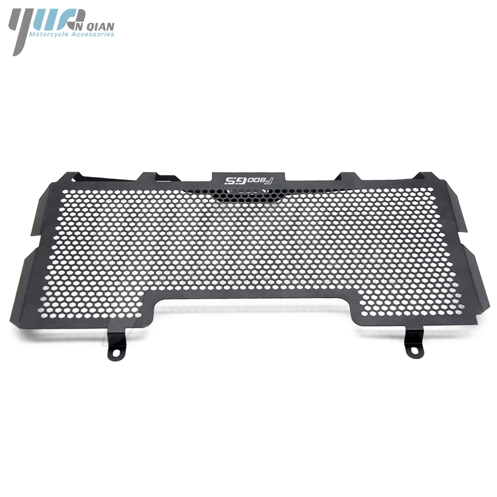 YUANQIAN Brand New BLACK For BMW F800GS F800R 2008-2018 Stainless Steel Radiator Grille Guard Cover f800gs 2017 2016 2015 2014 brand new 2015 6 48 288 a154