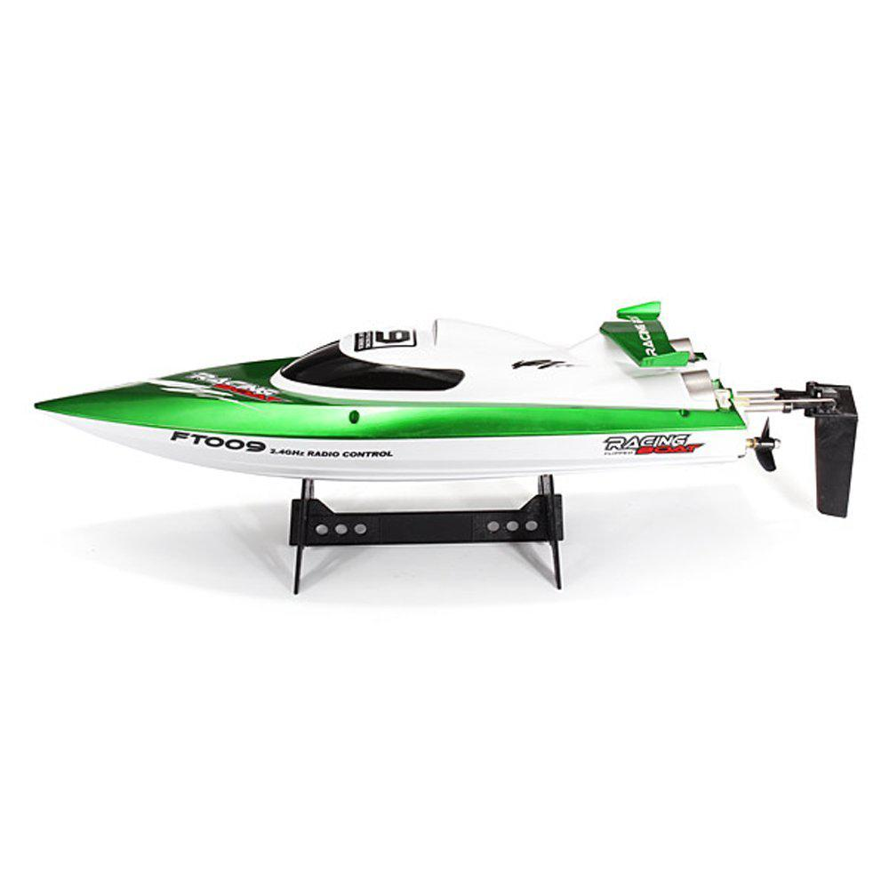 LeadingStar High Speed Racing Flipped RC Boat Electric Remote Control Speedboat Water Cooling Motor System FT009 2.4G 4CH Green