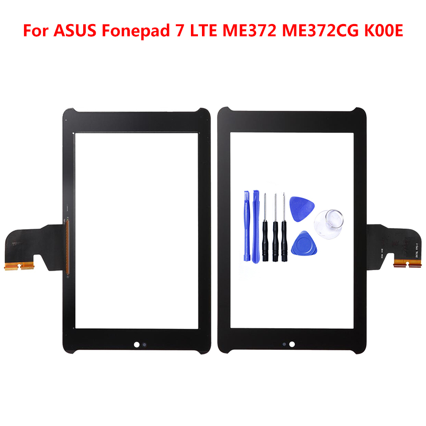 For <font><b>ASUS</b></font> Fonepad 7 LTE ME372 <font><b>ME372CG</b></font> <font><b>K00E</b></font> Tablet PC Touch Screen Digitizer Glass Part Replace Panel Black image