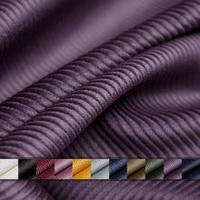 Pearlsilk 8 listra veludo tecido engrossar morandi cor 100% algodão casaco de inverno vestido roupas diy tecidos