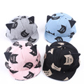 2017 Spring New Baby Hat with Ears Beard Animal Cat Cartoon Kids Baseball Hat Summer Baby Boy Sun Hats Cotton Caps Girls Visors