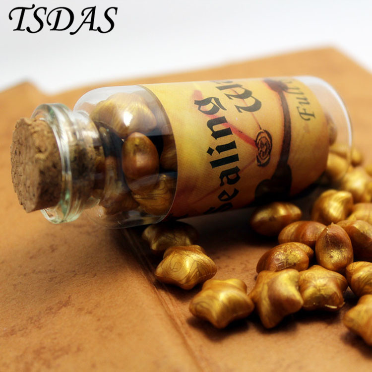 Lovely Golden Color Lucky Star Stamp Wax Vintage DIY Wax in Bulk MINI Sealing Wax Gift Seal Granule Wax lucky chance in may men shandbags 8