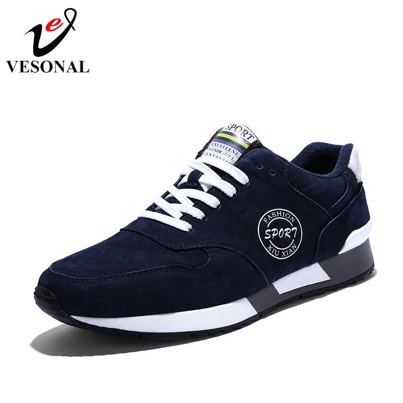 11cdfca73c4 VESONAL de cuero genuino de calidad Casual Hombre zapatos para hombres  zapatillas de deporte de otoño e invierno de moda cómoda caminando calzado  9931 en ...