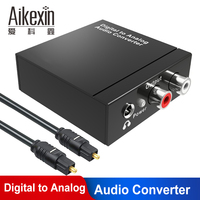 Aikexin Digital to Analog Audio Converter Optical to 3.5mm Adapter Coaxial to RCA with Toslink cable