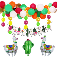 цена 67pc Alpaca Llama Party Decoration Supplies for Party Llama Cactus Foil Balloons Latex  Llama Cactus Banner Baby Shower Birthday онлайн в 2017 году