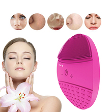 BlingBelle Soft Silicone Facial Cleansing Brush Skin Scrubber 5 Gear Wireless Charge Double Electric Face