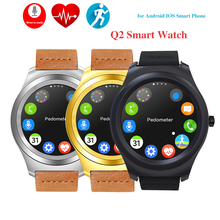 2016 HOT Q2 Bluetooth Smart Watch Support Heart Rate Monitor Sync Notifier Smartwatch Wristwatch For iPhone