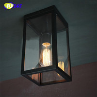 FUMAT Vintage Ceiling Lights Living Room Simple Metal Light American Country Bedroom Lamp Balcony Kitchen