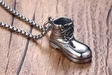 Мужское ожерелье в стиле панк из нержавеющей стали серебряного