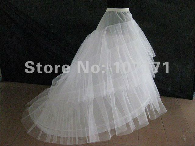 Wholesale New Wedding Acessories Petticoat With Train