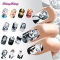 Belleza Sexy Marilyn Monroe Lip Diseño Etiqueta Engomada Del Clavo de Transferencia de Agua Calcomanía Uñas Nail Wraps Manicura Decoraciones