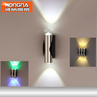 Free Shipping 6W LED Wall Lamps For Home Hotel KTV Bar Store Different Light Colors For