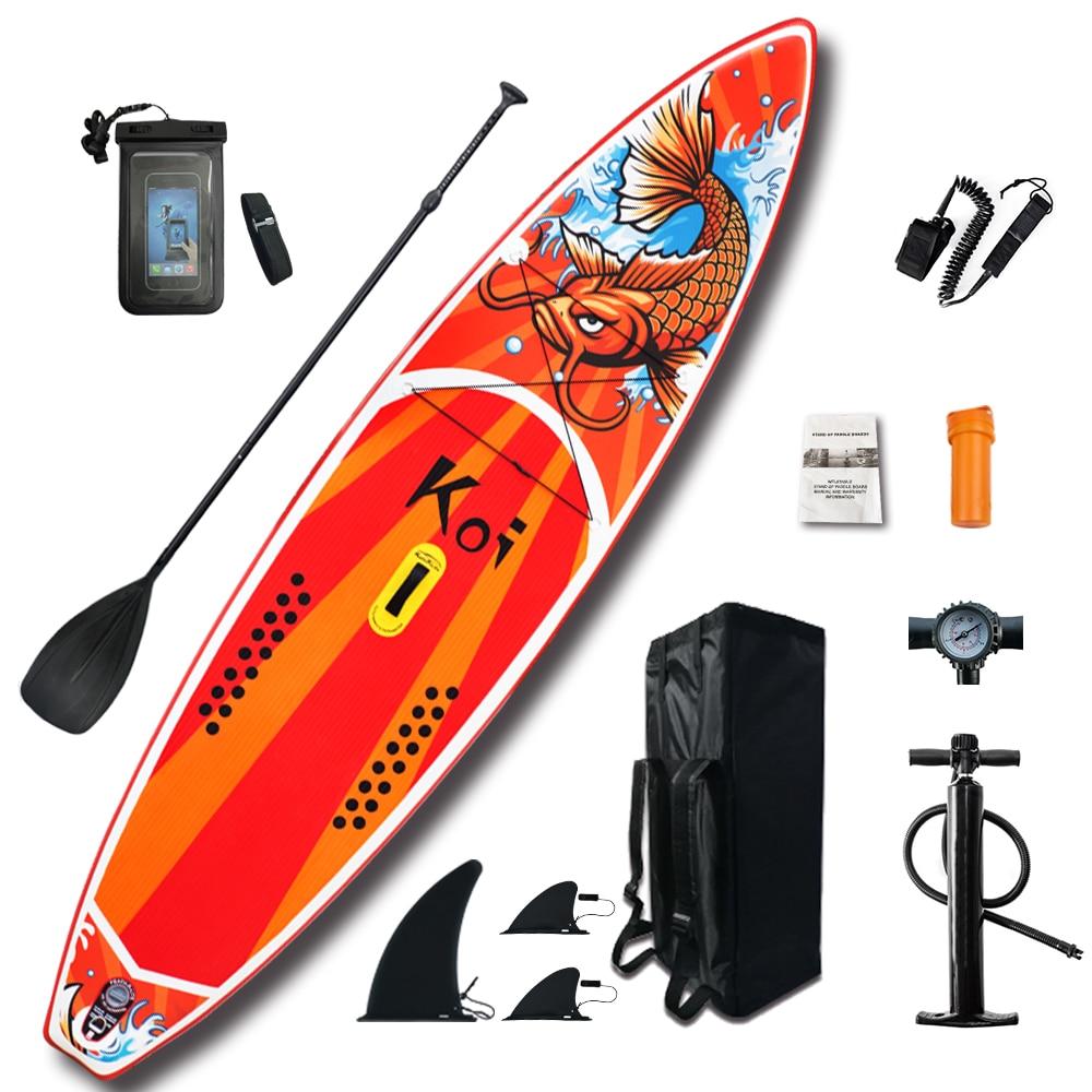 """Gonflable Stand Up Paddle Board Sup-Board planche de Surf Kayak ensemble de Surf 11'6 """"x33''x6''avec sac à dos, laisse, pompe, sac étanche"""