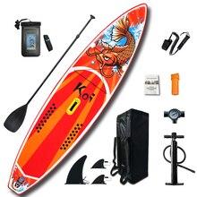 """Купить с кэшбэком Inflatable Stand Up Paddle Board Sup-Board Surfboard Kayak Surf set 11'6""""x33''x6''with Backpack,leash,pump,waterproof bag"""