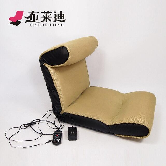 Deluxe Electric Massage Lounger Sofa Beanbag Legless Chair Floor Mat Foldable Tatami