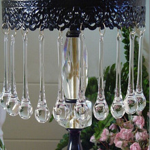 10 шт./лот 20*80 мм прозрачные капли дождя хрустальные люстры, лампы стеклянные подвесные Подвески, хрустальные бусины занавески аксессуары