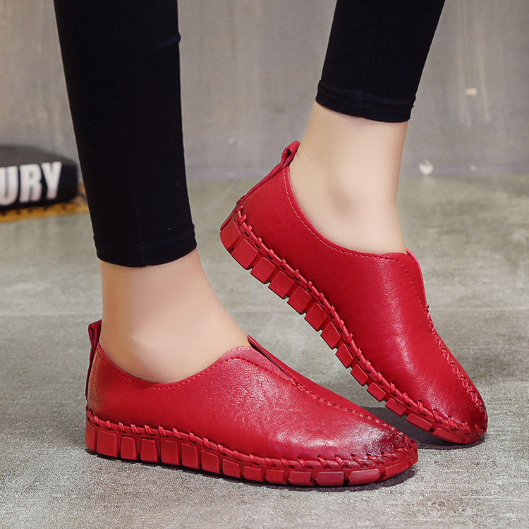 Buy women flat cowhide shoes and get free shipping on AliExpress.com d4dc1e1acc80