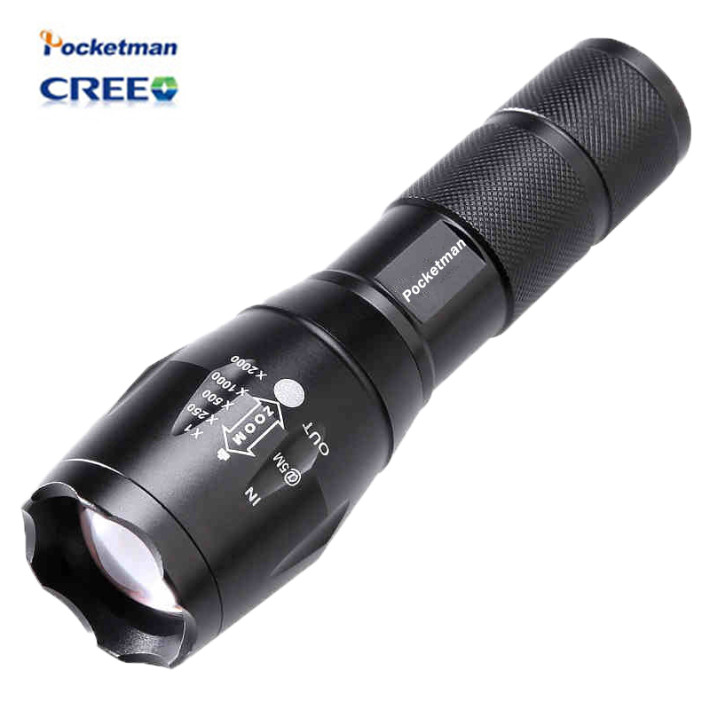 High Bright E17 3800 Lumens CREE XM-L T6 LED Flashlight 5-Mode Zoomable linternas LED Torch by 1*18650 or 3*AAA Free shipping 8000 lumens flashlight 5 mode cree xm l t6 led flashlight zoomable focus torch by 1 18650 battery or 3 aaa battery
