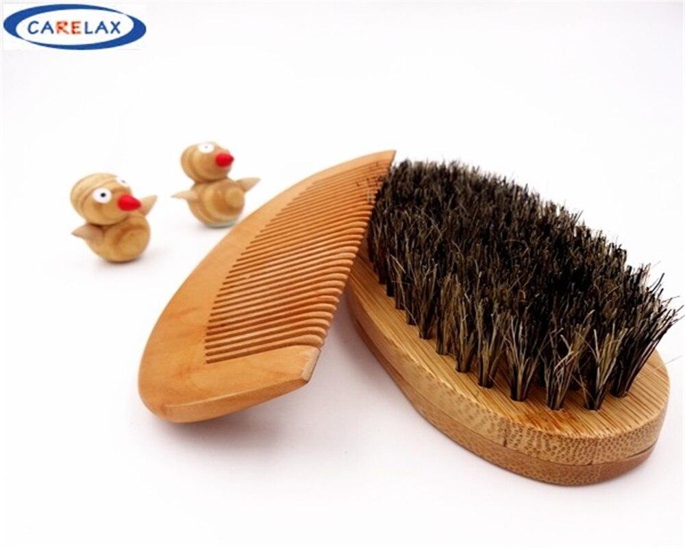 Comb&<font><b>Shaving</b></font> <font><b>brush</b></font> Set Beard <font><b>Brush</b></font> For Men Bamboo With 100%Boar <font><b>Bristles</b></font> Face Massage That Works Wonders To Comb Beards&Mustache