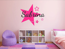 Personalized Stars Name Monogram Wall Stickers Decor Girls Bedroom Vinyl Wall Decal Graphics Bedroom Home Design Mural SA602