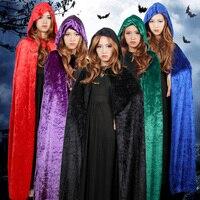 Kostenlose Lieferung Tod mantel cape vampire cosplay adult Halloween maskerade partei aktivitäten requisiten liefert Weihnachtskleid Up