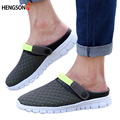 New Brand 2017 Unisex Men Clogs Garden Shoes Male Fashion Breathable Mules Clogs Summer Slippers For Size 39-44 OR850371