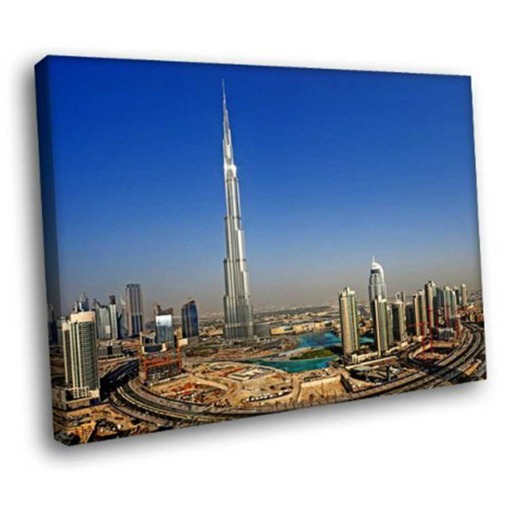 Burj Khalifa Tower Dubai Gedung Pencakar Langit Pemandangan