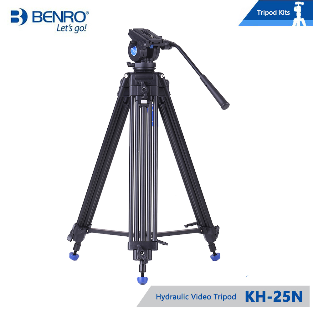 BENRO KH25N KH-25N Video Camera Tripod Professional Hydraulic Head Magnesium Alloy Tripod+Video Tripods Bag KH-25 update кольцо коюз топаз кольцо т111014082