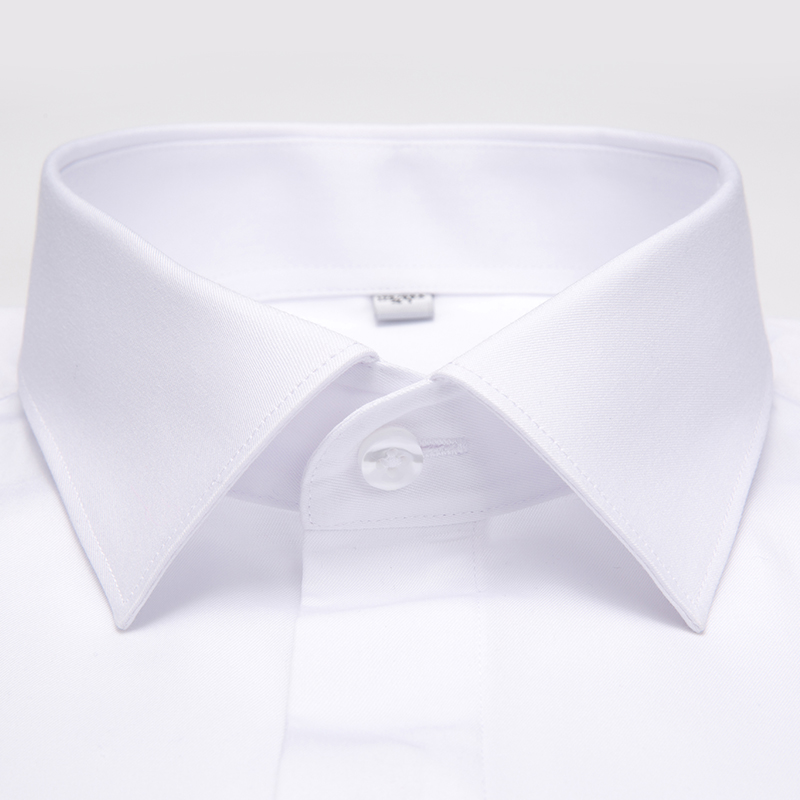 Image 2 - Men's Non Iron Long Sleeve Covered Placket Dress Shirt Standard fit Formal Business Easy Care Solid Office Basic Designed Shirts-in Dress Shirts from Men's Clothing