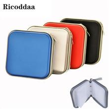 Cd-Case Disc-Storage-Box Cd-Bag Plastic Mini Portable DVD for Fabric Square 40-Disc-Capacity