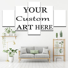 5 Pieces Drop Shipping Customized Canvas Paintings Custom Made Wall Art Wallpapers Modular Posters Prints Iving Room Home Decor(China)