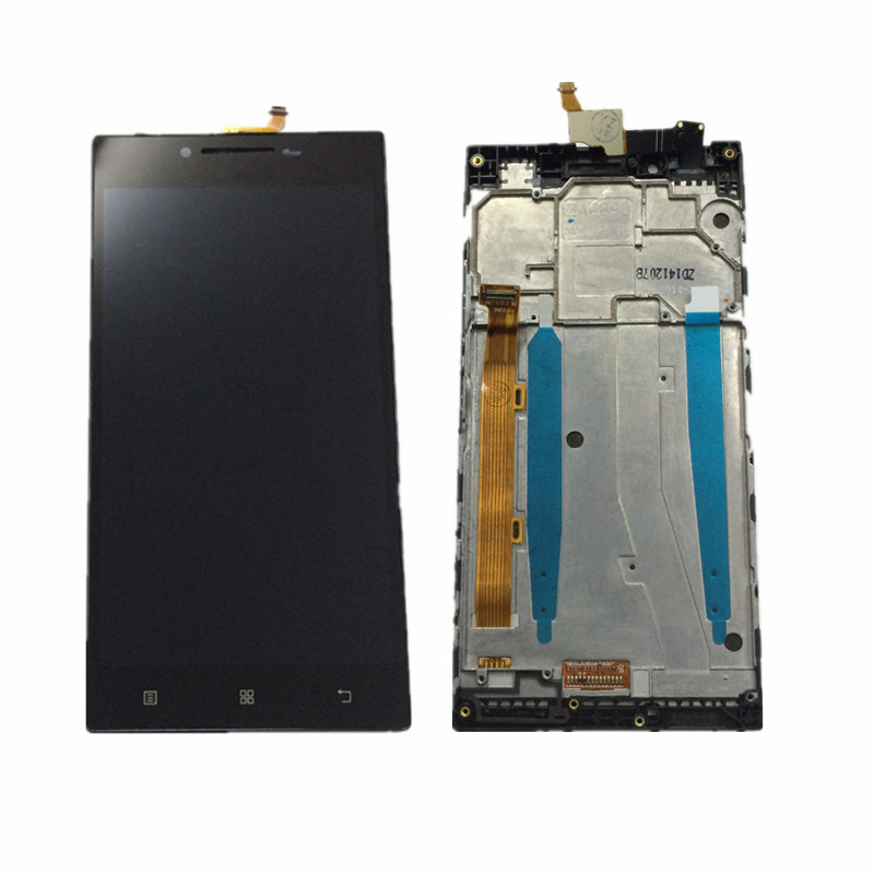 LCD Display Monitor Screen + Touch Screen Digitizer Sensor Panel Glass Assembly With Frame For Lenovo P70 P70-t P70t P70-A P70A