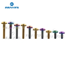 Wanyifa Titanium Bolt M6 x 12 15 20 25 30 35mm Flat Top Umbrella Head for Bicycle Motorcycle Brake Disc Screw