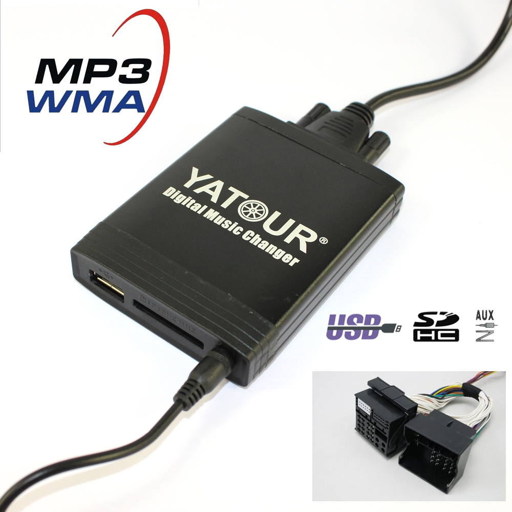 Yatour CD Changer YT M06 For Opel Insignia Signum Tigra Vectra C Zafira B USB MP3 SD AUX adapter Digital music Changer
