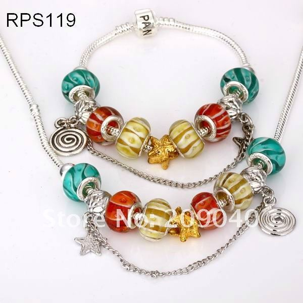Free Shipping/Silver Pandola Bracelet Necklace.Pandola Jewelry Sets.Fashion  Jewelry.Wholesale 925 Silver/ S119.Valentines Gifts