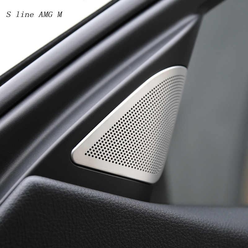 Etiqueta engomada decorativa de la cubierta del altavoz de Audio de la puerta del coche para BMW F30 3 series 2011-2017 accesorios interiores del automóvil