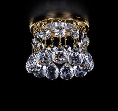 Ledシャンデリアlustresデリビングルーム照明dia8 * h7.5cmクリスタル回廊ライト新しいモダンミニクリスタルランプ