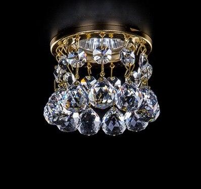 Led Chandelier Lustres De Cristal Living Room Lighting Dia8*H7.5cm Crystal Corridor Light New Modern Mini Crystal Lamps