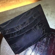 TERSE_Patina handmade mens card bag vintage style mens card holder top real leather wallet bespoke service Valentine's gift