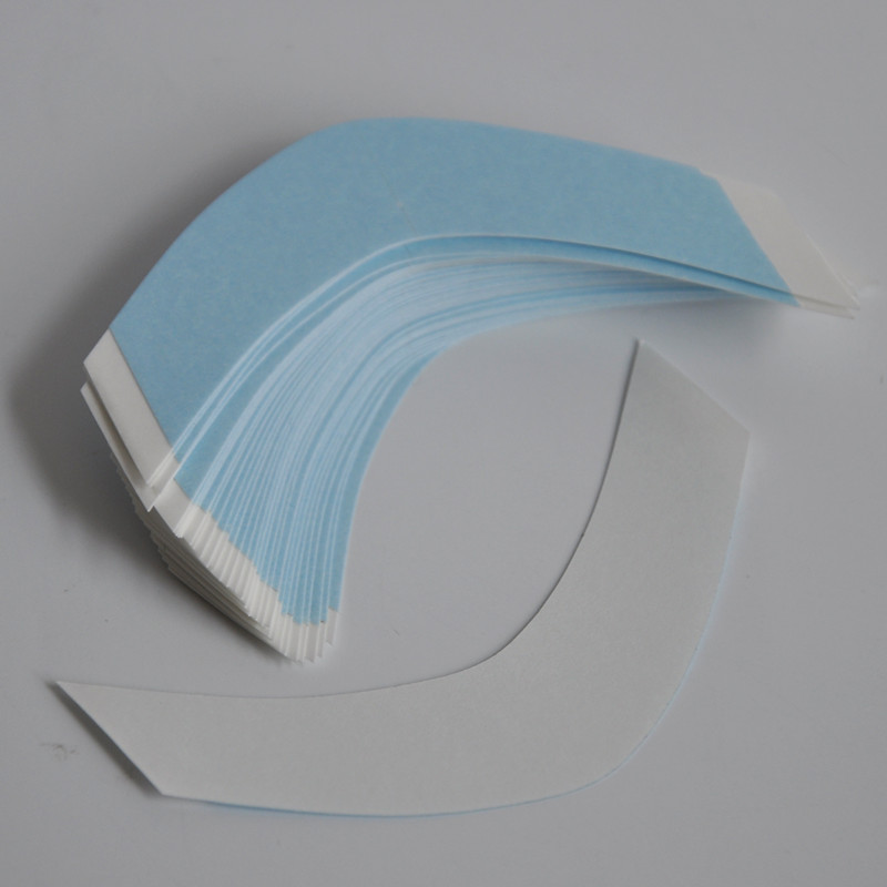 36pcs/lot V Shapes Strong Wig Lace Front Blue Double Tape For Toupee/Lace Wig/Tape Hair Extension Hair System Adhesive Tape